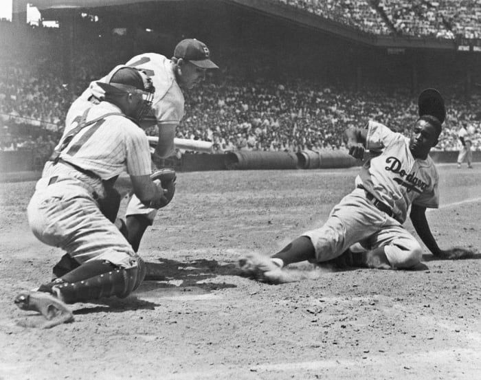 1947: First African-American MLB player (modern): Jackie Robinson