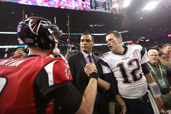 Super Bowl LI: Tom Brady, New England Patriots, and Matt Ryan, Atlanta Falcons