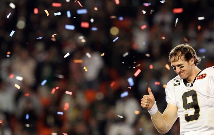 Drew Brees, QB, New Orleans Saints - Super Bowl XLIV