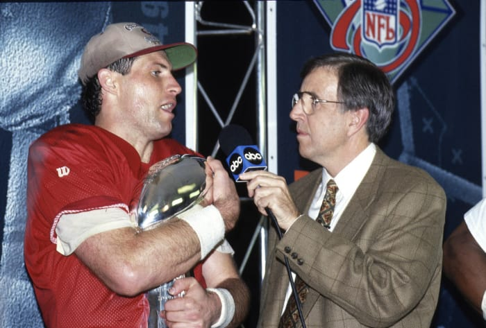 Super Bowl XXIX: Steve Young, San Francisco 49ers, and Stan Humphries, San Diego Chargers