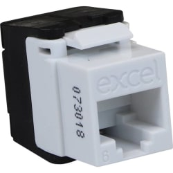 Excel Category 6 UTP Low Profile Toolless Jack - White 100-215-WT