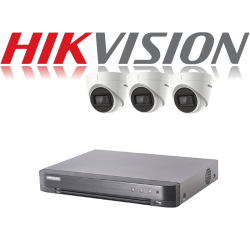 HikVision Turbo HD up to 5MP 4Ch Audio Kit with 3 x 5 MP 30m IR H