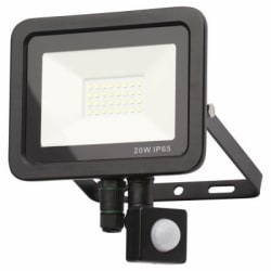 Zinc ZN-31298-BLK - Rye 20 W Slimline LED Flood  With PIR Blk