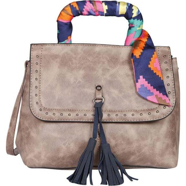 Branded  Hand-held Bag  (Brown)