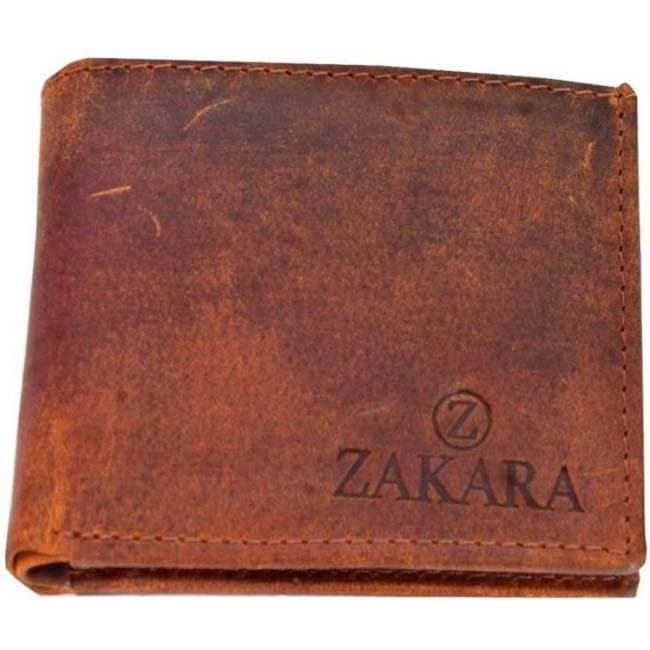 Branded Men Casual, Formal Brown Genuine Leather Wallet Mens Purse  (3 Card Slots)
