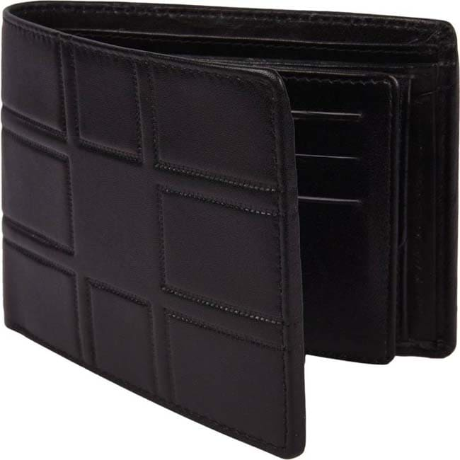 Death by Color Men Black Genuine Leather Wallet  (9 Card Slots)